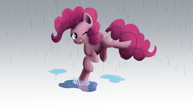 Playing in the rain by Ailynd