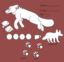 Free Canine Ref Sheet Base by DieselPaws