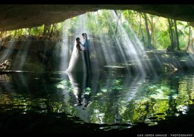 Cenote Wedding Blue by pearlchair