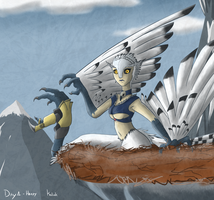 Day 1 - Harpy by Keilink