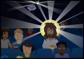 Jesus at the movies by Bob-Rz
