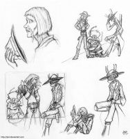 Outlaw sketches - Bravestarr by JenL