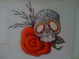 Sugar skull colored by xyzzyshftenter