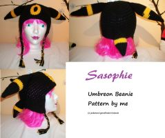 Umbreon beanie hat by Sasophie