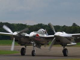 P38 Lightning Duxford 2 by davepphotographer
