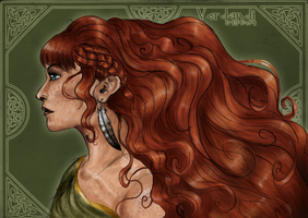 Red Headed Warrior by EdithSparrow