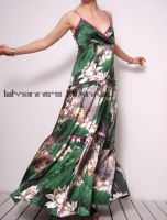 Green Silk Satin Fairy Dress by yystudio