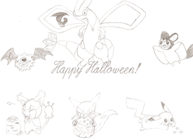 Happy Halloween :Sketch: by pokemonbreeder1