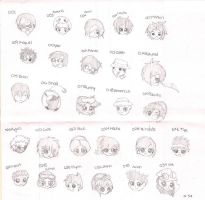 Sketch: BSC characters by xRainbowBotanx