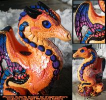 Butterfly Keeper Dragon by drag0nfeathers