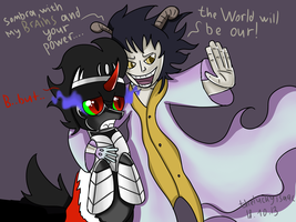 CAESAR CLOWN AND KING SOMBRA (CROSSOVER) by TheLuckyIsaac