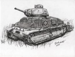 French Somua Tank by shank117