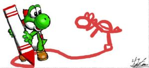 Yoshi should draw other yoshi by the-PirateNinja