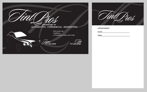 Tint Pros Business Card by dragonorion