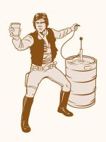 T-shirt graphics Han's Solo by Cloxboy
