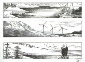 IMAGES OF KODIAK pen and ink by Ricky-Roo302