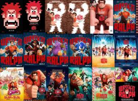 Wreck It Ralph All Posters Wallpaper by EspioArtworks