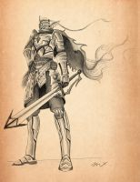 Vintage Knight by 8Bpencil