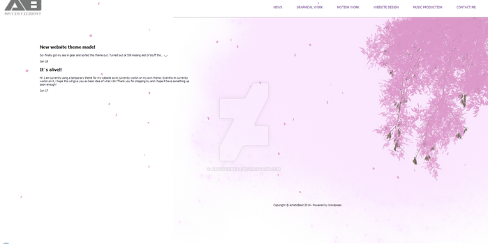 Sakura Wordpress Theme by artisticbeat