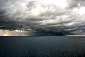 Storm Over Lake Erie by shaguar0508