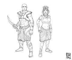 Egyptian characters by Luk999
