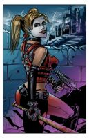 Harley Quinn Arkham City Color by SachaLefebvre