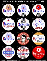 Unofficial Romney Campaign Buttons by Conservatoons