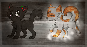 Hollyleaf and Fallen Leaves by Angel-star143