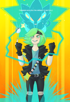 TRAINER ALEX ELECTRA WISHES TO BATTLE ! by Radical-Alex