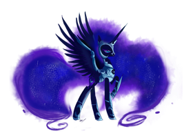 Heavy armored nightmare moon by nutty-stardragon