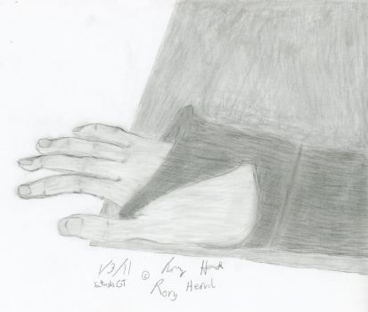 Arm in Sleeve, Hand on Folder by SatoshiGT