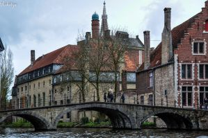 Bridge in Bruges by Rikitza