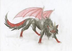 Demon wolf by Nutrea