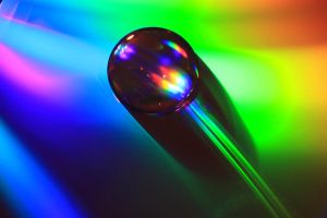 rainbow drop by GemmaGreen