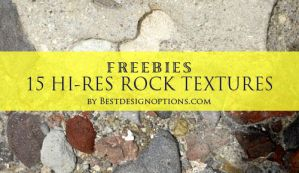15 Hi-Res Free Rock Textures by fiftyfivepixels