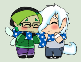 FrozenLilyBee winter Chibi's by Ask-Snow-Prince