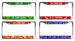 LOZ License Plate Frames by Enlightenup23