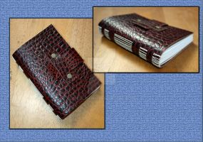 Small Embossed Leather Journal by Bluelisamh