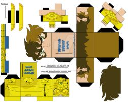 LEO AIORIA CUBEE SAINT SEIYA by animepapertoys