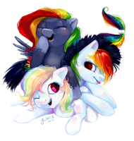 Pony Commission: Cloud, Sunshine and White by enigmatia