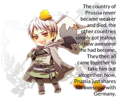[APH] Prussia's awesome headcannon by CheetoDorito