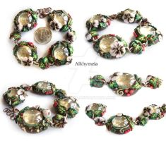 Autumn Dew Drops, the Bracelet by Alkhymeia