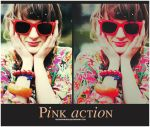 Pink action by Hesavampire