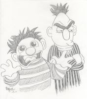 Ernie and Bert by JoJo-Seames