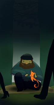 Spitpaint - Homelessman and his friend by sutefeni