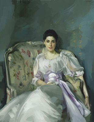 Study of Lady Agnew of Lochnaw by Elsouille