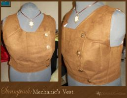 Steampunk: Mechanic's Vest by DemonicKareBear