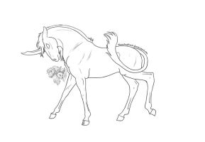 Free Dark Unicorn Lineart2 by FlareAndIcicle