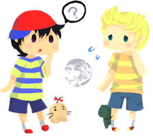 Ness and Lucas by Millenium-Lint