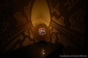 Table lamp III - Gourdlight - Handmade Gourd Lamps by gourdlight